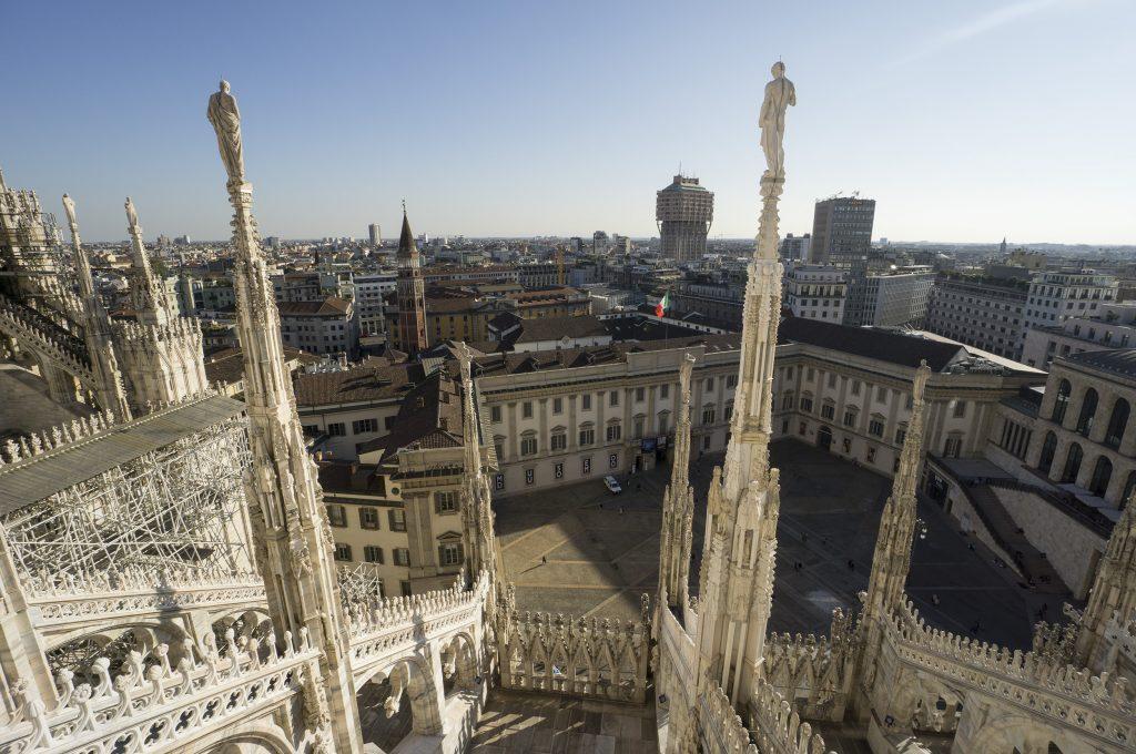 Milan Duomo rooftop walk