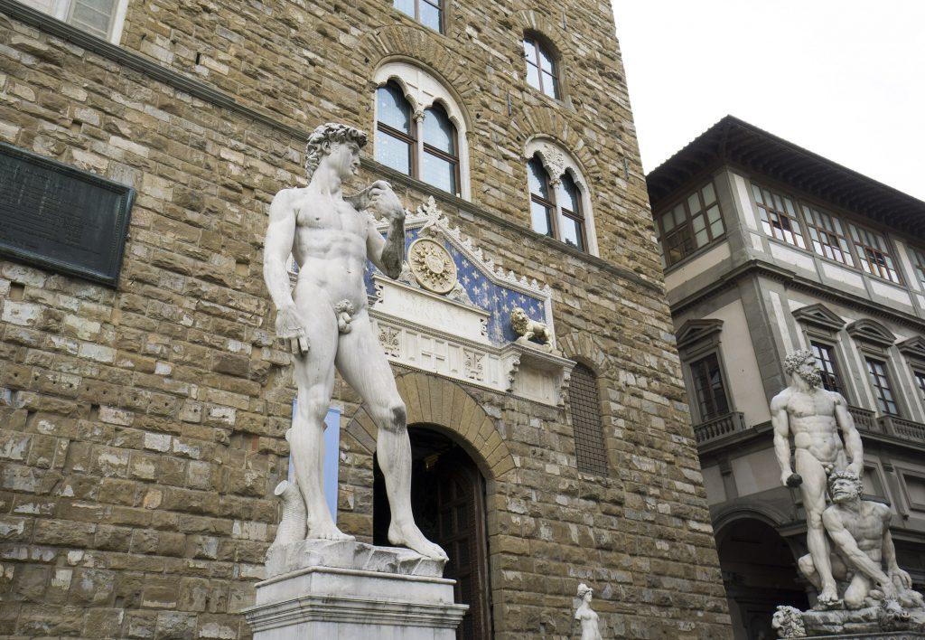 Florence David Statue outside