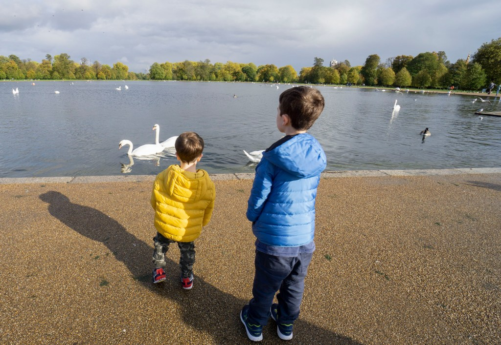 Kensington Gardens with kids
