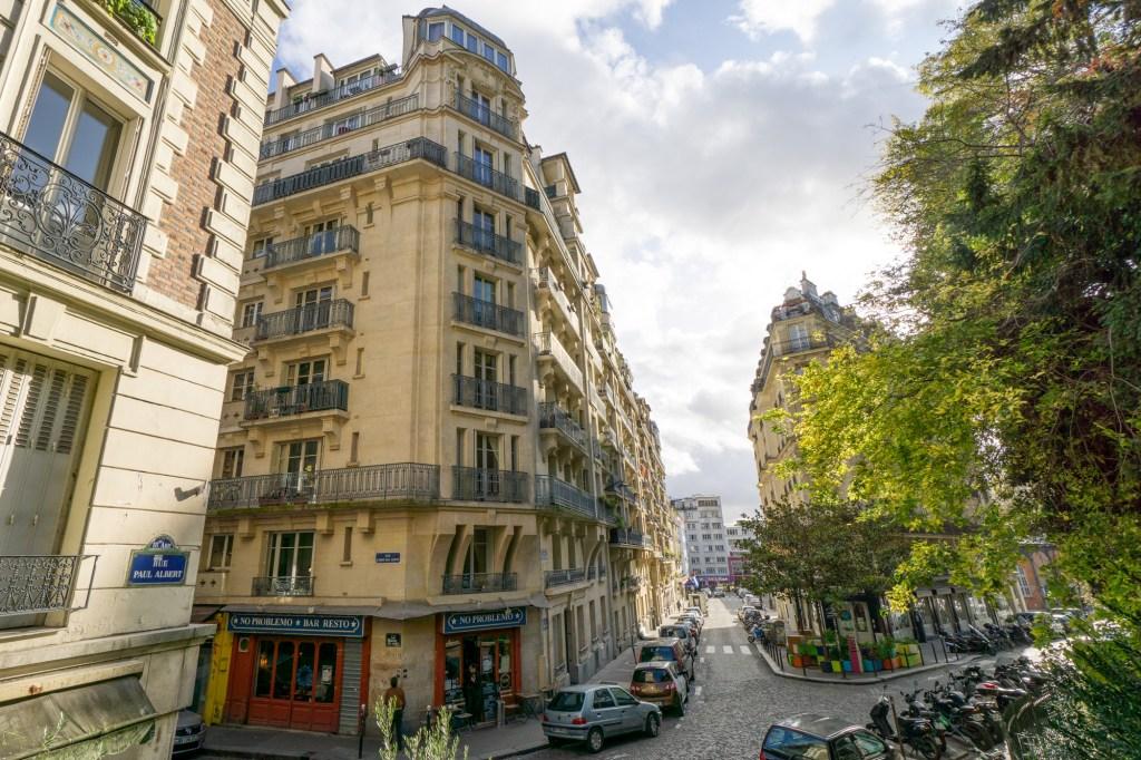 street in Montmartre area