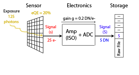 Sensor photons to DN A