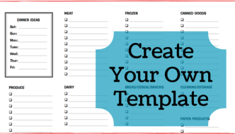 Create Your Own Grocery Shopping Template in Word