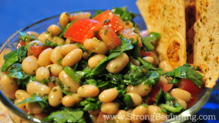 White Bean and Pesto Salad - Quick and Simply Lunch Ideas