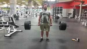 Greg deadlifts 500 in early February,