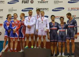 Jacked sprint cyclists