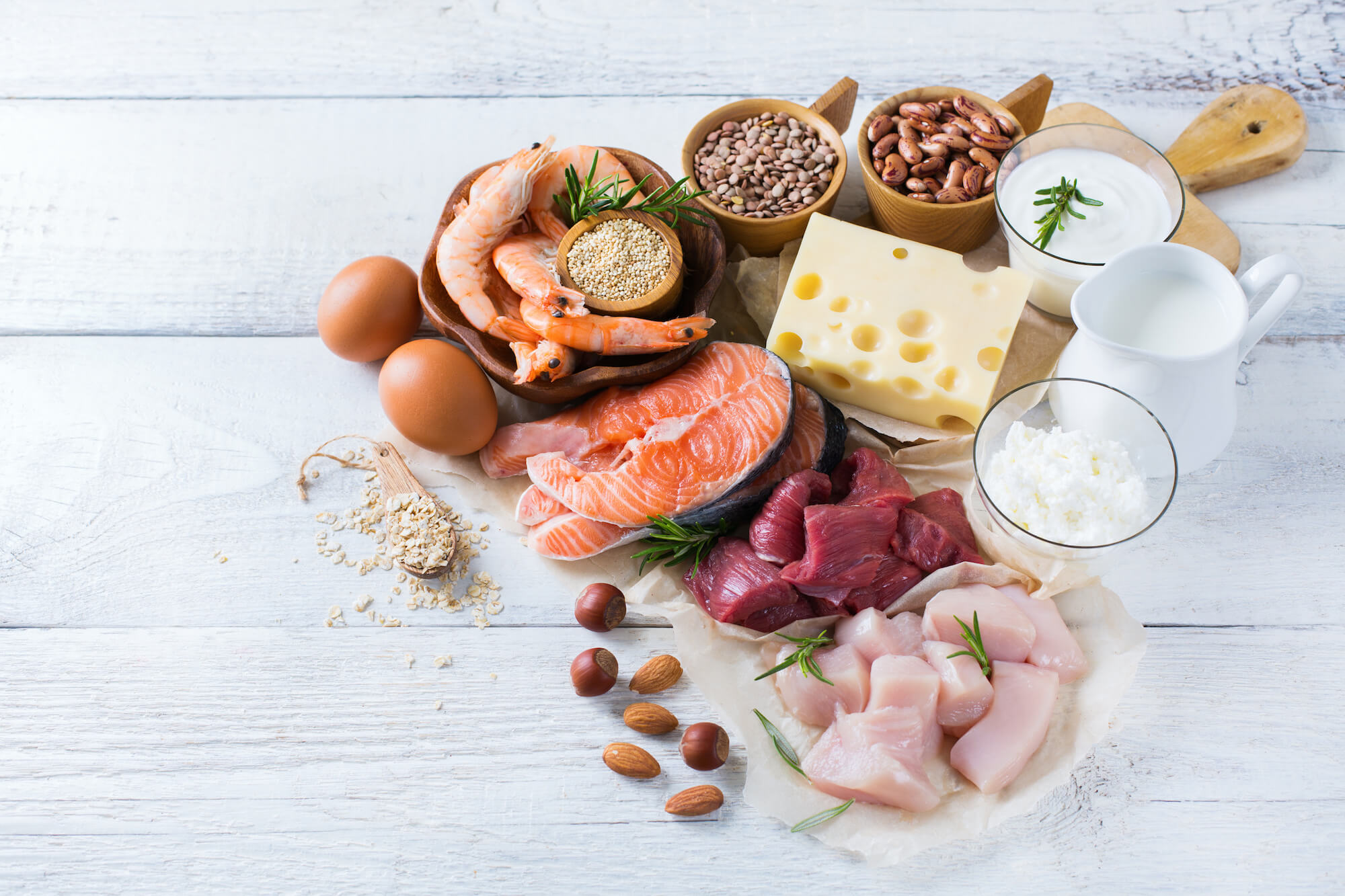 What foods containing proteins should be consumed in case of deficiency of this element