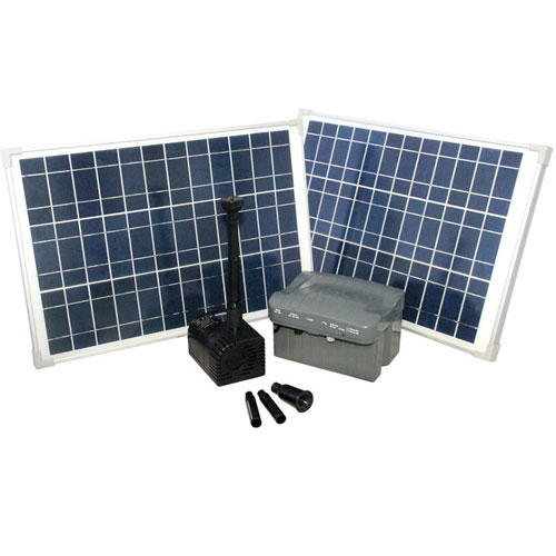 RSFB1600 Solar Pond, Fountain and Water Feature Pump with Solar Panels and Back up Battery