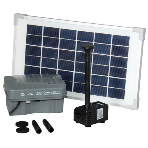 Solar Waterfall, Pond and Fountain Pump with Battery Backup