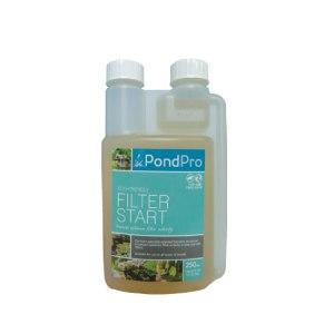 filter start pond filter bacteria