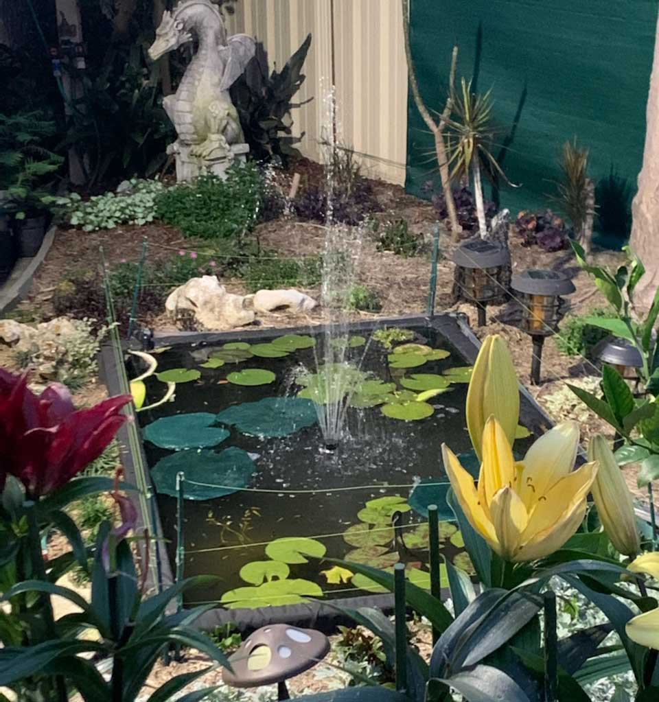 solar powered pond pump with battery backup