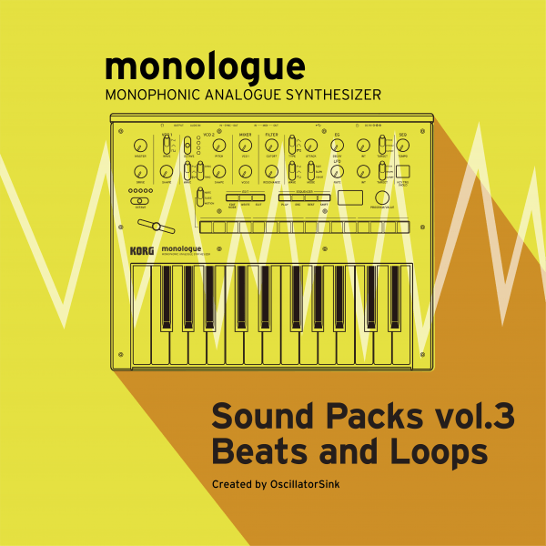 KORG's releases monologue/Sound packs vol 3
