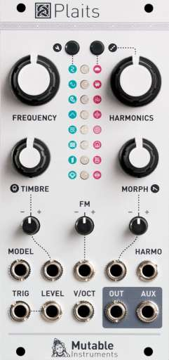 Plaits is the spiritual successor of Mutable Instruments' best-selling voltage-controlled sound source, Braids.