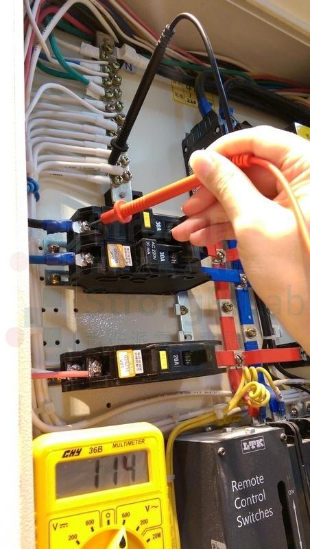 配電箱電壓測量-單相對中性線