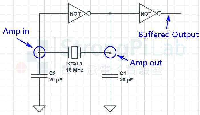 XTAL-晶體振盪器-線路圖