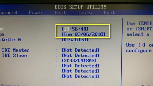 BIOS的日期是正確的