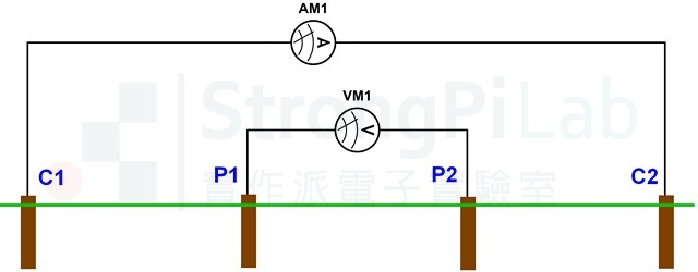 Ground resistance - 4 wires