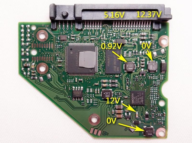 Disk3電路板的電壓
