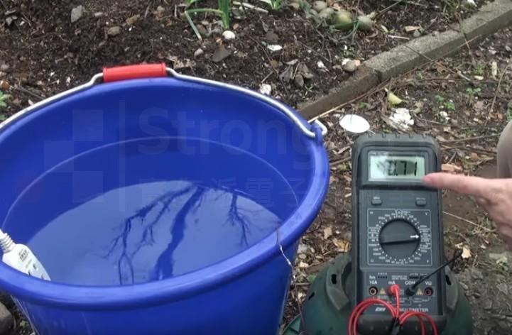 水中電流 經過潮濕的土壤竟然有10.7mA