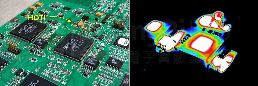 整流器電阻的熱影像