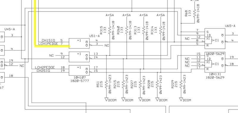 LCHxPEDGE腳位兩個CH不同調