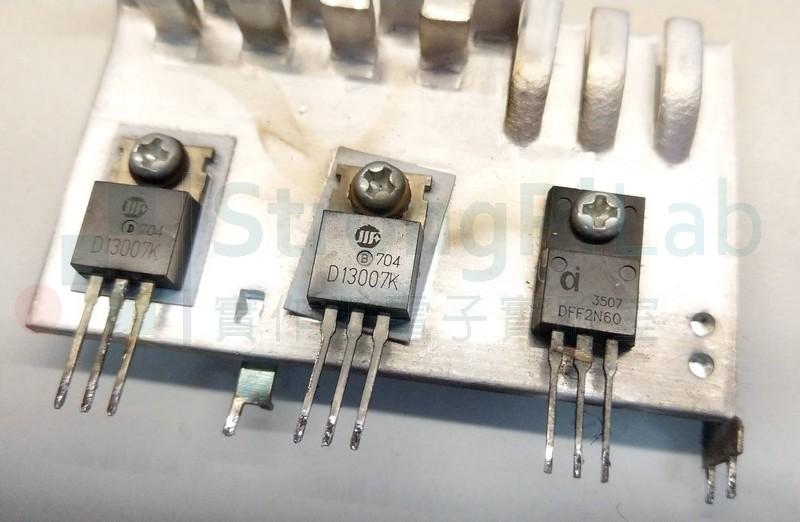 故障的主要電晶體