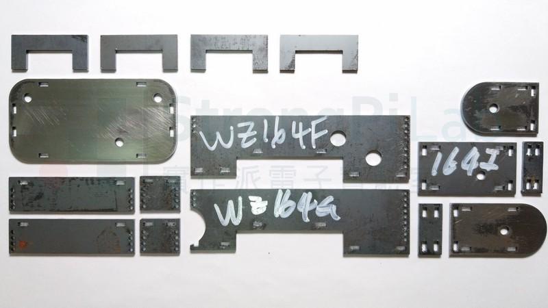 黑鐵金屬雷射切割的零件成品