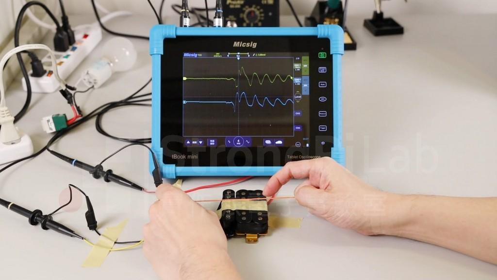 單線圈與 雙線圈 拾音器的琴弦訊號測試