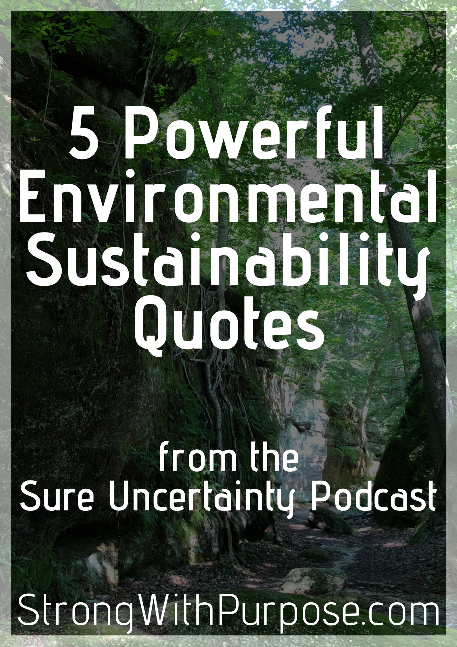 powerful environmental sustainability quotes strong