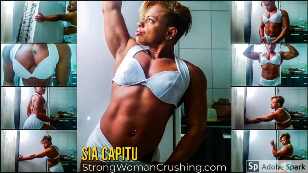 Sia Capitu lifts a refrigerator