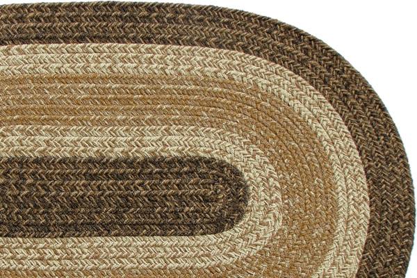 Acadia Brown Braided Rug