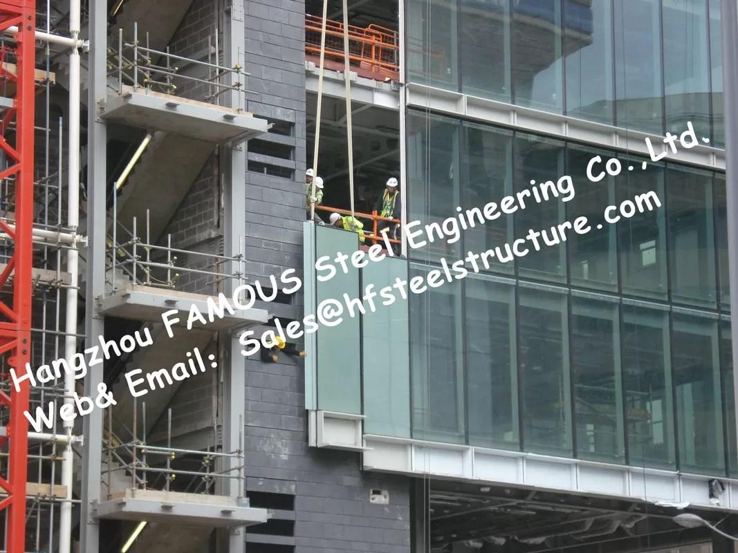 structural aluminum framed glass facade