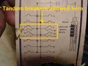 Inspecting Tandem Circuit Breakers  aka 'Cheaters'
