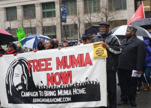 Hundreds march in Philadelphia to support Mumia Abu-Jamal