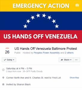 Baltimore Emergency Action Saturday Jan. 26