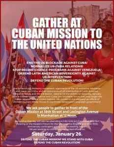 NYC Emergency Counter Protest – Defend the Cuban Revolution – Defend Venezuela from the US Intervention
