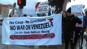 Venezuela solidarity trumps LA rainstorm