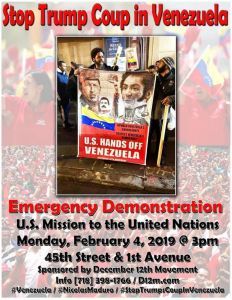 NYC: Emergency demonstration on Venezuela
