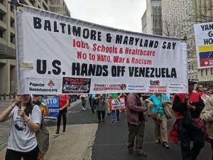 Washington, D.C., protesters say, 'No to NATO! Hands off Venezuela!'