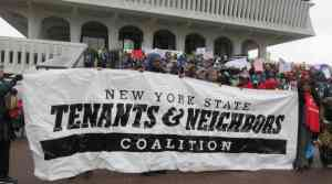 NY tenants sit-in for housing rights