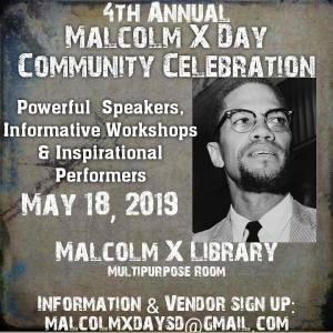 May 18: San Diego Malcolm X Day Community Celebration