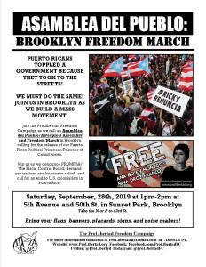 Brooklyn, Sat., Sept. 28: Asamblea del Pueblo/Brooklyn Freedom March