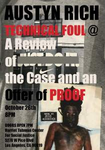 Los Angeles Oct. 26: Fight Racism Dance & Exhibit: Technical Foul/A Review and Offer of Proof
