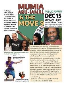 Los Angeles Dec. 15: Mumia Abu-Jamal and the MOVE 9