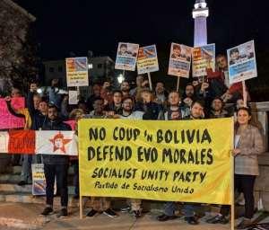 Protests across U.S. declare: Defend Evo! U.S. hands off Bolivia!