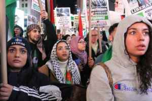 Hundreds in New York march to stand with Gaza, Palestinian resistance