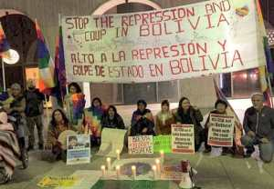 Los Angeles protest hits Bolivia coup