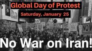 Washington Jan. 25: No War on Iran! Global Day of Protest