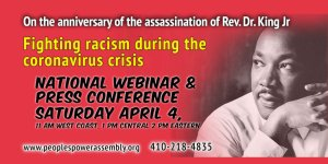 Fighting racism during coronavirus crisis: April 4 National webinar / press conference