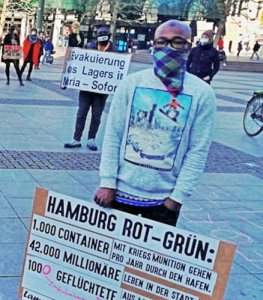 Hamburg: Refugees, supporters demand COVID-19 protection