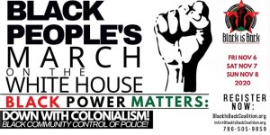 Black people from around the U.S. will march on the White House with the demand for Black Power!